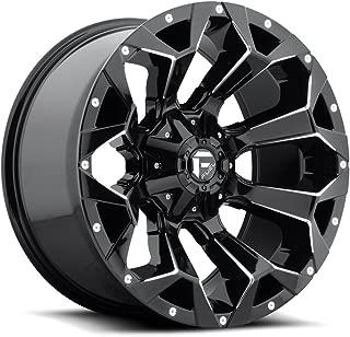 Fuel Assault (D576) - Gloss Black Milled; 17x9 Wheel Size, 5x114.3 / 5x127 Lug Pattern, 78.1mm Hub Bore, 01mm Off Set.