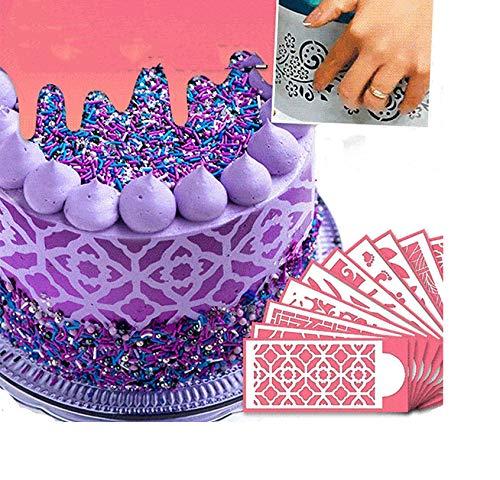 HTYA Cake Lace Decoration Stencil (Set of 10)