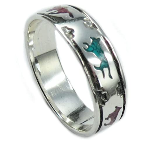Zirkonia  TOP ! Echter 925 Silber Damen Ring mit  Koralle