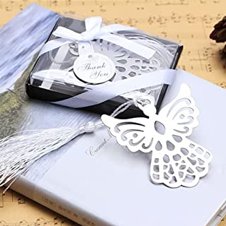 Winrase Gift Boxed Book Lovers Collection Angel Bookmark Wedding Favor (Set of 12)