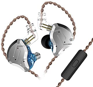 KZ ZS10 PRO in Ear Earphones Yinyoo Comfortable Ear Noise Cancelling Headphones Earbuds with 4BA 1DD Balanced Armature Dynamic Driver Hybrid Technology for Cell Phone Player(Blue mic)