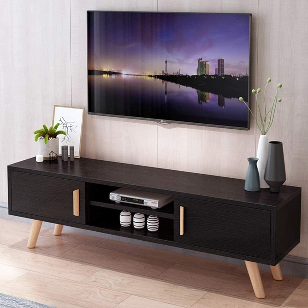 Tv Stand Free Standing Television Stands Media Entertainment Center Tv Storage Console Table Home Living Room Tv Console Storage Cabinet With Cabinet Doors And Open Storage Shelf Gaming Consoles Amazon Ca Home