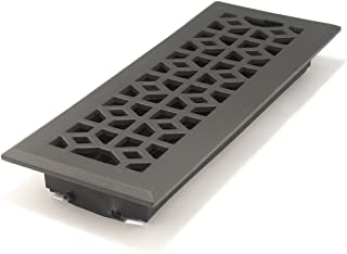 Accord AMFRPWM412 Floor Register with Marquis Design, 4-Inch x 12-Inch(Duct Opening Measurements), Cast Iron Pewter