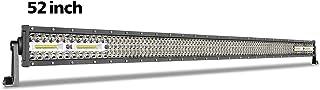 52 Inch LED Light Bar, SWATOW 4x4 380W Straight LED Work Light Quad Row Flood Spot Combo Off Road Driving Light Fog Lights...