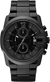 Diesel Men's Master Chief Quartz Stainless Steel Chronograph Watch, Color: Black (Model: DZ4180)