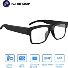 Camera Glasses 1080P,HD Video Glasses Max 32GB Memory Card - Eye Glasses with Camera - Wearable Camera