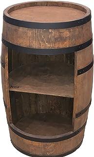 tonneau en bois bar - Armoire décorative - Étagère à vin en bois - Organisateur d'armoires d'alcool - vintage casier pour ...