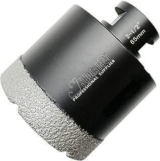 SHDIATOOL Diamond Core Drill Bits 2-1/2 Inch for Porcelain Ceramic Tile Marble Brick Vacuum Brazed Hole saw 65mm