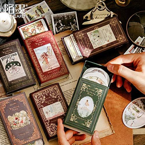 BLOUR 60 Stück/Box Matchbox Aufkleber Briefpapier Dekoration DIY Aufkleber Scrapbooking Stick Label Tagebuch AlbumAufkleber