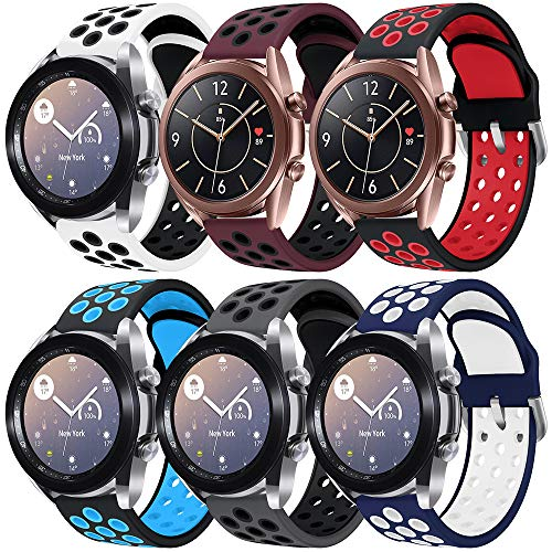 Sycreek Compatible para Samsung Galaxy Active Correa 20mm Silicona Doble Color Correa de Reloj Pulsera de Reemplazo de Liberación Rápida para Galaxy Watch 42mm/Active Watch/Active 2 40mm/Active 2 44mm