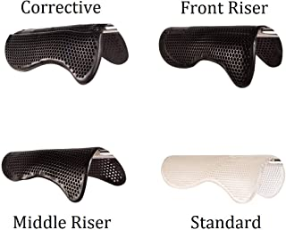 AceRugs English Saddle PAD Corrective FIT Gel All Purpose Anti Slip Half Pads Front Riser Middle Riser for SWAYED Back