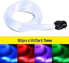 GIDERWEL RGBW LED Fiber Optic Cable,6.5ft 300pcs 0.75mm Plastic End Glow Optical Fiber Cable for Star Sky Ceiling All Kind LED Light Engine Driver(Not Include Light Engine)