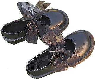 Vrouwen Mary Jane Schoenen Britse Stijl Ronde Neus Student Dikke zolen Loafers Mode Lakleer Lace Up Wedge Chunky Schoenen