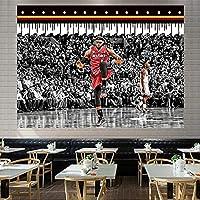 スーパーバスケットボールスタージェームズダンクタペストリー、リビングルームの寝室の装飾パーティーバナーのための柔らかいタペストリー red 5