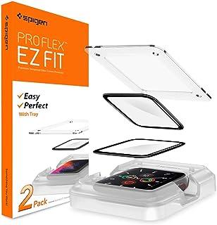 Spigen ProFlex EZ FIT Screen Protector Designed for Apple Watch 6 / SE / 5 / 4 (44mm) - 2 Pack