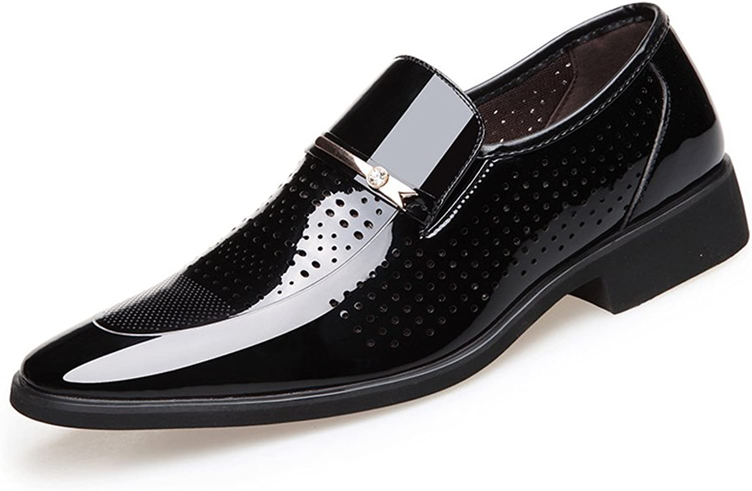 shoes Formal Men's Pointed Toe Txuedo Dress shoes Burnished Smooth PU Leather Slip-on Lined Business Oxfords Leather shoes