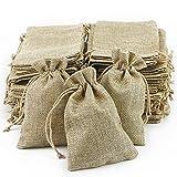 ARTESTAR Bolsa de Yute Bolsa con cordón Bolsa de arpillera Saco para joyería,...