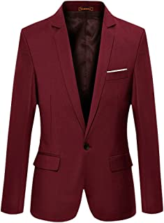 Men's Slim Fit Stylish Casual One Button Suit Coat Jacket Business Blazers