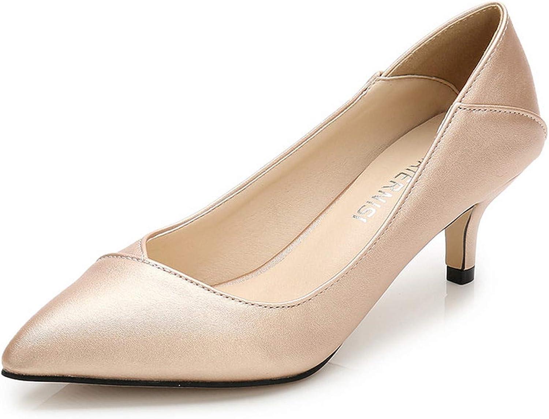 Mao YiE Spring Autumn Casual 5Cm Thin Heels Wedding shoes Womenn Pointed Toe