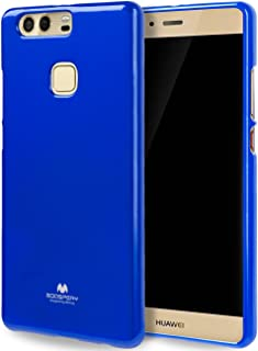 Goospery Pearl Jelly for Huawei P9 Plus Case with Screen Protector Slim Thin Rubber Case (Navy) HWP9P-JEL/SP-NVY