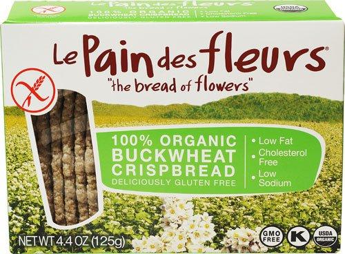Le Pain des fleurs Crispbread Gluten Free Buckwheat -- 4.41 oz - 2 pc