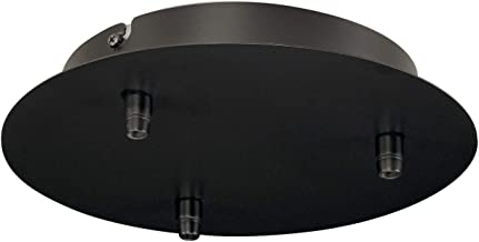 SLV Elektrische component plafond rozet FITU 3-delige rozet rond incl. trekontlasting/zwart