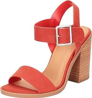 Cambridge Select Women's Open Toe Slingback Chunky Stacked Block Heel Sandal