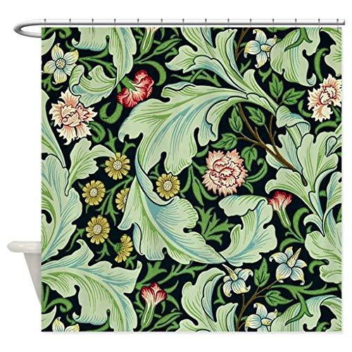 FORHAPPY Duschvorhang Maus & Blume von William Morris Duschraum dekoriert Stoff Duschvorhang