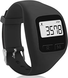 Ceilein Simple Walking Running 3D Pedometer Step Counter for Men Women Kids, Track Steps & Miles,  Calories & Activity Time
