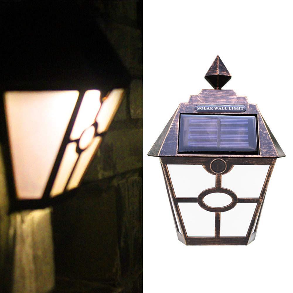 ❄TianranRT❄ Luz Solar Para Jardín,Lámpara de Jardín Con Cerco de Pared Solar Para Decoración Exterior Retro Led de Pared Exterior,Dorado: Amazon.es: Bricolaje y herramientas
