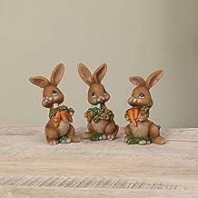Clayre /& Eef Easter Bunny Pastel 12cm Figurine Easter Decoration Easter Umbrella Rabbit Woman
