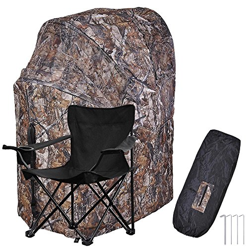 AW 1 Man Fold Chair Ground Deer Hunting Blind Woods Camouflage Turkey Hunting Tent 1 Man Fold Chair