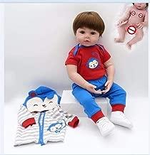 Redland Art Redland Art Toy Full Body Silicone Water Proof Bath Toy Popular Reborn Toddler Baby Dolls Bebe Doll Reborn Lifelike Soft Touch (Color : Blue boy, Size : 48cm Blue Eye)