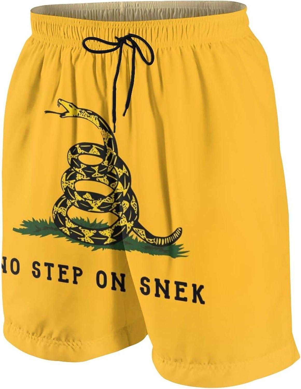 Teen Boys No Step On Snek Swim Trunks Quick Dry Swimwear Bathing Suit with Mesh Lining