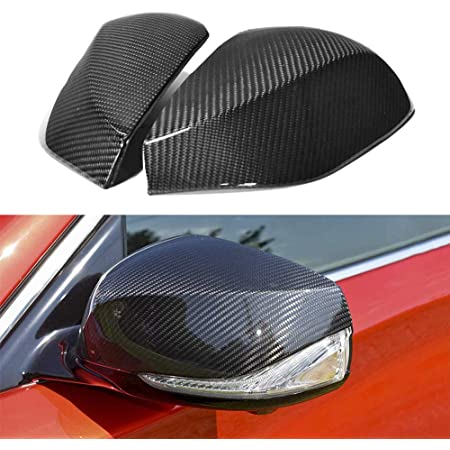 FANFAUTO Add On Real Carbon Fiber Rear View Side Mirror Cover For Infiniti G37 G25 2009-2014