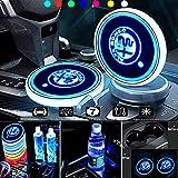 Generies Auto Porta Bevande LED Impermeabile Luce LED 7 Colori Ricarica USB Portabevande Auto LED Lampada, per al-Fa Rom-eo