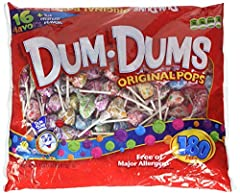 Dum Dum Pops 180 ct bag - assorted flavors Made by Spangler Candy Co Made by Spangler Candy Co
