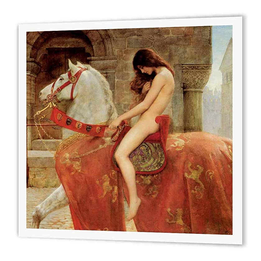 3dRose ht_164544_1 Lady Godiva Vintage John Collier-Iron on Heat Transfer Paper for White Material, 8 by 8-Inch