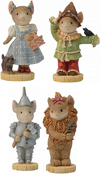 Enesco Wizard Of Oz 2 1 4 Mice Collectible Figurines Bundle Tin Man Cowardly Lion Dorothy And Scarecrow