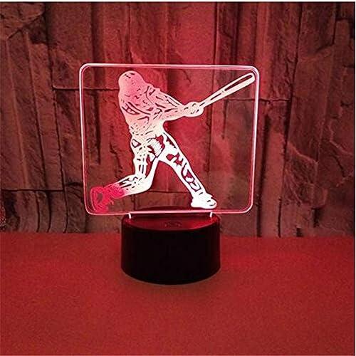 Lustre Applique Led3D Led Nuit Lumière Nouveauté Cadeaux 7 Couleurs Led Bureau Table Touch Base Usb Lampe Enfants Cadeau
