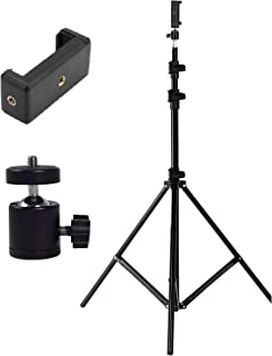 Rewy Portable & Foldable 7 Feet (84Inch) Big Flexible Tripod for Camera, DSLR & Smartphones with Attachment 360-Degree Rot...