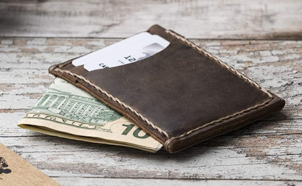 Minimalist Wallet, Leather Slim Wallet, Mens Leather Wallet,