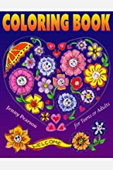 Coloring Book for Teens or Adults: Stress Relief & Relaxation (Marker Friendly) Paperback