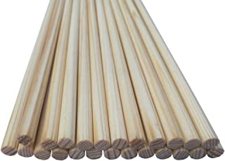 PG1ARCHERY 31 Wooden Arrow Shafts with Nocks,12pcs Archery DIY Handmade Arrows Bare Raw Shafts Spine 30-80# for Traditional /& Recurve Bow Longbow