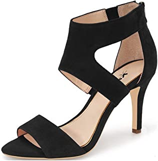 2f6981508422 XYD Prom Dancing Shoes Elegant Open Toe Strappy Heeled Sandals Ankle Wrap  Dress Pumps for Women