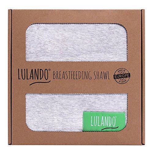 LULANDO multifunktionales Stilltuch Stillschal für diskretes und bequemes Stillen (90 x 70cm). Praktischer Sicht- und Lärmschutz, als Abdeckung für Babyschale oder Autositz geeignet, Farbe: Grey