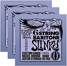 Ernie Ball 2839 6 String Baritone 13-72 (3 Pack)