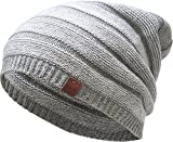 KBETHOS Comfortable Soft Slouchy Beanie Collection Winter Ski Baggy Hat Unisex Various Styles (Light Gray Lightweight Slouchy)