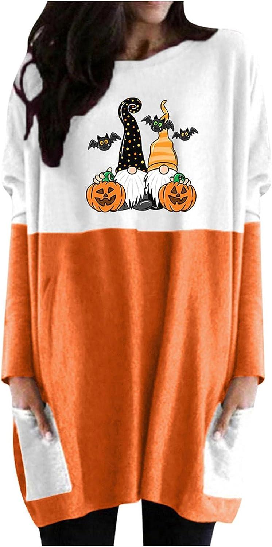 Hotkey Tunic Tops to Wear with Leggings, Halloween Sweatshirt for Women Long Sleeve Tops with Pocket, IF YOU LIKE MY Pumpkins