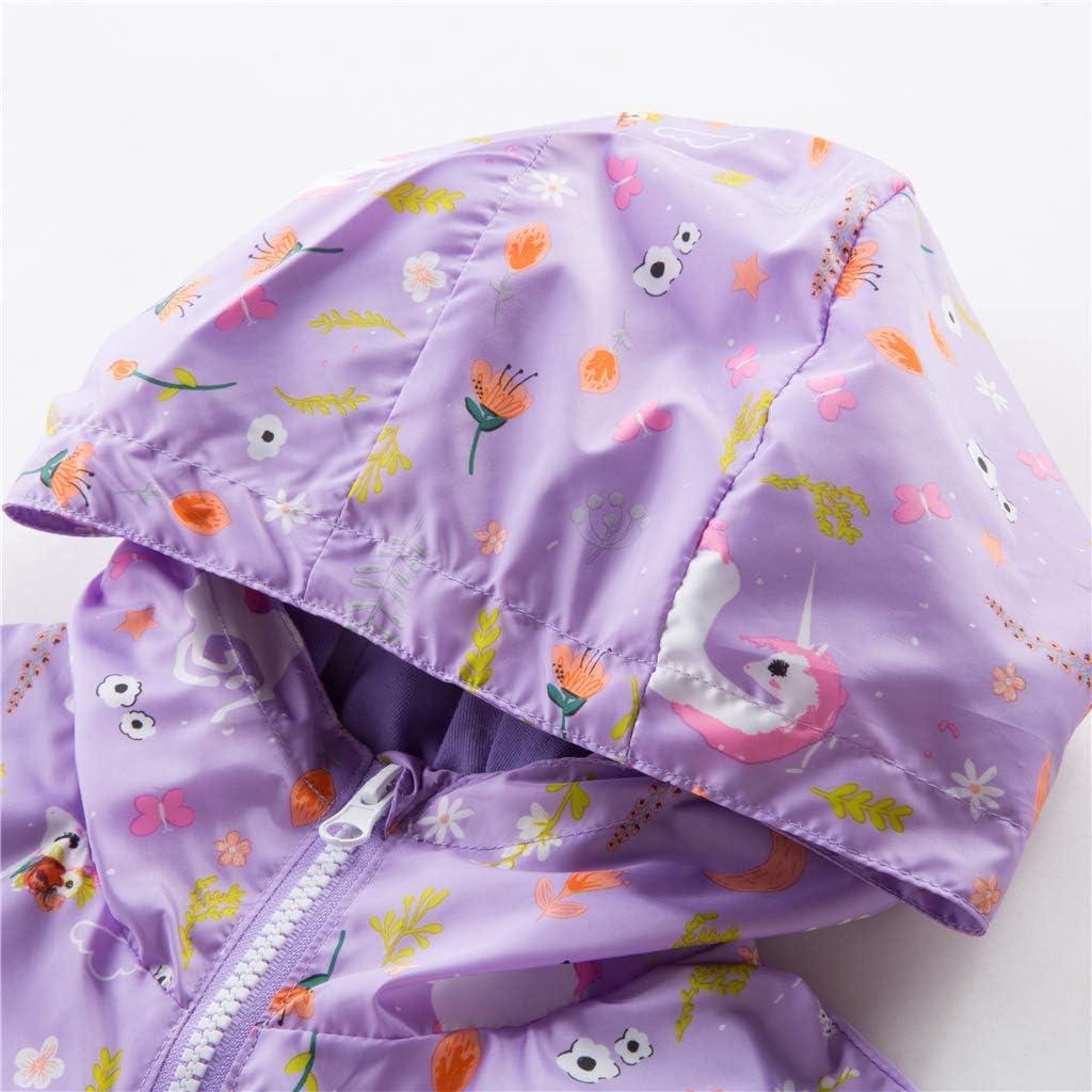WYTbaby Kids Waterproof Rain Jacket Girls Fleece Outerwear Hooded Lined Windbreaker Spring Fall